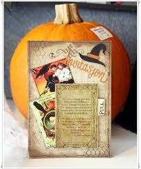vintage halloween invitations wicked gypsy the creative studio