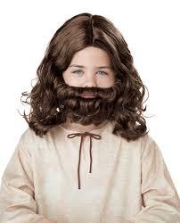 Jesus Costume W294 Child Jesus Wig U0026 Beard Boys Religious Christmas Fancy Dress