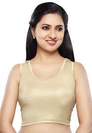 golden blouse plain shimmer lycra stretchable blouse in golden utt559