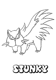 stunky coloring pages hellokids com