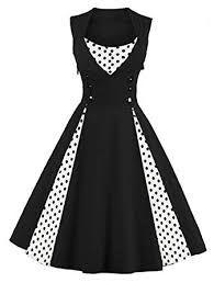 amazon com killreal women u0027s polka dot retro vintage style