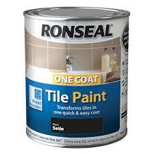 ronseal tile paints black high gloss tile paint0 75l departments