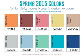 Color Forecast by Spring 2015 Color Trends Rachel Running Wild