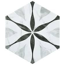 large white fiberglass tubs mixed black ceramic floor as well f merola tile classico bardiglio hexagon flower 7 in x 8 in