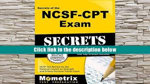 popular book secrets of the ncsf cpt exam study guide ncsf test