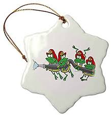 firefighter home decorations amazon com christmas gifts funny firefighter froggy frogs xmas