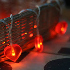 christmas garland battery operated led lights 10led fairy red love heart battery operated usb string lights 1m led
