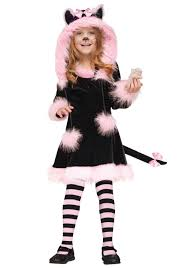 Black Cat Halloween Costume Kids Child Pretty Kitty Costume