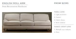 Sofa Seat Cushions by Ginny U0027s English Roll Arm Sofa Emily Henderson