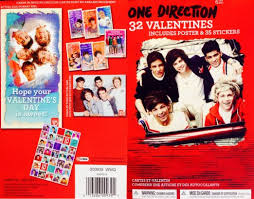 one direction cards buy 1d one direction 32 valentines day classroom exchange cards