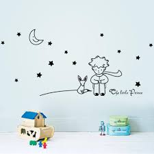 96 42cm stars moon the little prince fox graphic wall vinyl 96 42cm stars moon the little prince fox graphic wall vinyl children fairy tale sticker decals for kids room nursey room decor wall stencils and decals wall