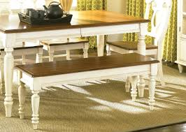 antique white kitchen table with bench kitchen table bench seating
