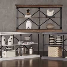 Media Console Table Barnstone Cornice Iron And Wood Entryway Console Table By Inspire
