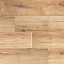 wood tile msi palmetto cognac 6 x 36 porcelain tile wood look in brown