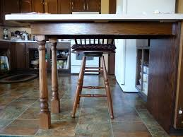 pennisula island countertop supports anyone use legs