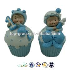 cheap polyresin baby shower figurines cake toppers decorations