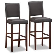 counter height chairs for kitchen island furniture brown wooden hight stool with black leather seat and