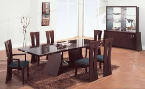zebrano high gloss finish contemporary dining room