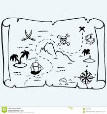 Blank Treasure Map by Treasure Island Vector Template Stock Vector Image 51368592
