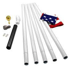 Pvc Pipe Flag Pole White Titan 18ft Steel Flagpole With 3ft X 5ft Flag