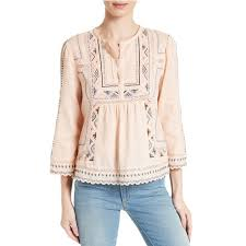 embroidered blouses esme embroidered cotton top rank style