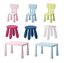 Ikea Kids Chairs Ikea Plastic Tables U0026 Chairs For Children Ebay