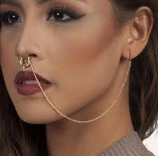 hoop studs 2017 new design summer style and studs earring chain