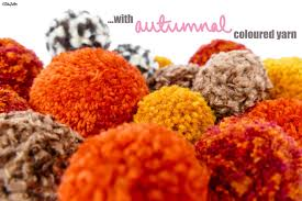 pom pom cuisine tutorial tuesday simple autumn pom pom decor eliston button