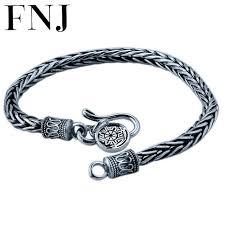 solid bracelet images 4mm 18 22cm bracelet 925 sterling silver rope chain 100 s925 jpg