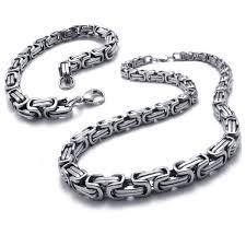 titanium curb chain necklace images Bodyj4you chain necklace bracelet men jewelry curb cable link jpg