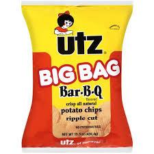 Ripple Chips Utz Potato Chips Ripples Bbq 14 5 Oz Walmart Com