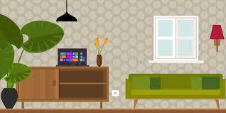 home interior vector living room home interior vector illustration stock vector
