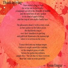 thanksgiving the unitarian society