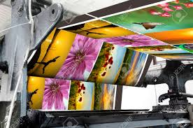 magazine offset printing machine stock photo picture and royalty