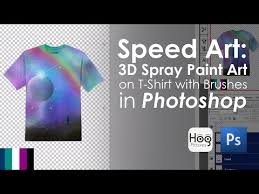 Photoshop Spray Paint - 3d spray paint art on t shirt with brushes in photoshop speed art