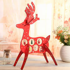 Wooden Deer Christmas Decorations by Discount Wooden Deer Decoration 2017 Christmas Wooden Deer
