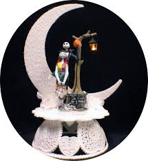 nightmare before christmas wedding cake topper by yourcaketopper