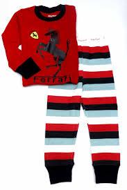 ferrari horse horse print kids pyjamas red