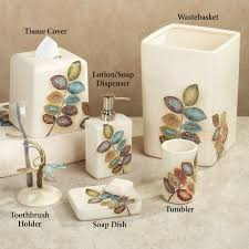 Bathroom Accessory Sets With Shower Curtain by Home Bath Bath Accessories Mosaic Leaves Bath Accessories By