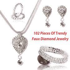 diamond set royal diamond jewelry set