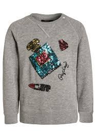 replay cheap replay sweatshirt medium grey melange kids jumpers