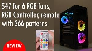 cheap fans cheap rgb fans with rgb controller remote and 366 patterns