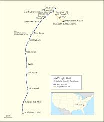 Gold Line Map File Map Lynx Light Rail Charlotte Svg Wikimedia Commons