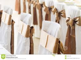 chair ribbons wedding chairs with silk ribbons stock photos image 34647293