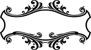 ornamental flourish frame domain vectors