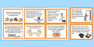 measuring length challenge cards measuring length challenge