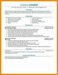 Retail Store Assistant Manager Resume 10 Store Manager Resume Examples Bill Pay Calendar