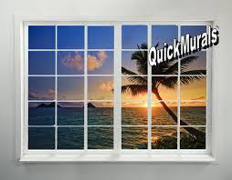 tahiti sunset window peel and stick 1 piece wall mural