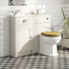 Bathroom Combination Furniture by The Bath Co Dulwich Ivory Cloakroom Combination With Oak Effect