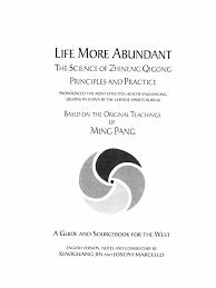 the science of zhineng qigong life more abundant based on